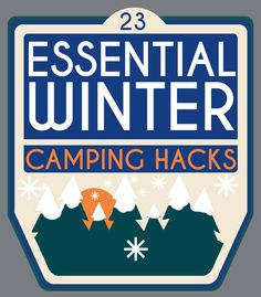 23 Essential Winter Camping Hacks...  So you can enjoy it during colder weather! #camping #hiking #winter #outdoors