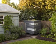 chicken coop with planter box on top!