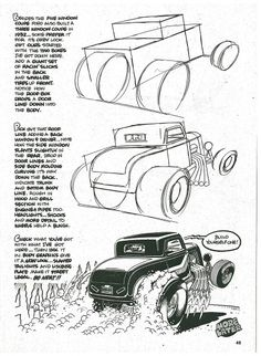 George Trosley - How to draw: Tree window coupe 1932