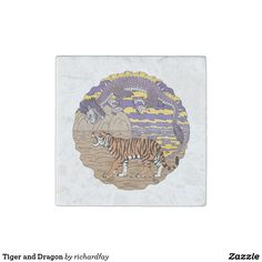 Tiger and Dragon Stone Magnet.  40% off with code STICK2GETHER  Offer is valid through April 15, 2017 11:59 PM PT.  #zazzle #stone_magnet #magnet #tiger #dragon #eastern_dragon #oriental_dragon #Asian_dragon #Chinese_dragon #purple_dragon