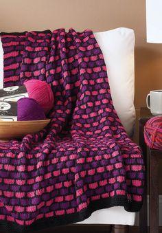 Knit Honeycomb Throw   Free Pattern!