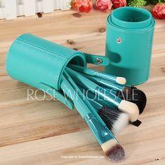 12PCS Professional Cosmetic Tool Green Barrel Soft Make-up Brushes Full Range of Brushes - Green