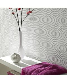 Curvy is a timeless classic- a flowing curve wallpaper that is much more than just a richly textured design. It's also intended to help cover up those unsightly