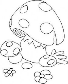cartoon mushroom coloring pages  how to draw mushrooms step 6