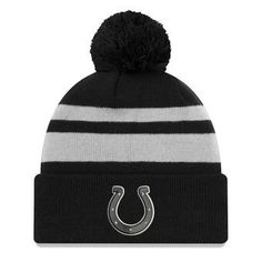 06cab4048e5 Indianapolis Colts New Era Cuffed Knit Hat with Pom - Black