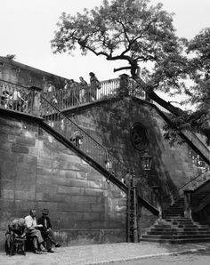 Charles Bridge, Staircase, 1960 Prague Photos, Charles Bridge, Czech Republic, Vintage Images, Google Images, Black And White, Cold War, The Originals, Artwork