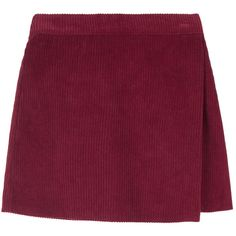 Corduroy Wrap Mini Skirt ($24) ❤ liked on Polyvore featuring skirts, mini skirts, short skirts, elastic waist skirt, short a line skirt, a line skirt and mid thigh skirt