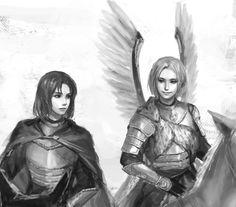 Toris and Feliks - Art by Erico Lotus- Winged Hussar
