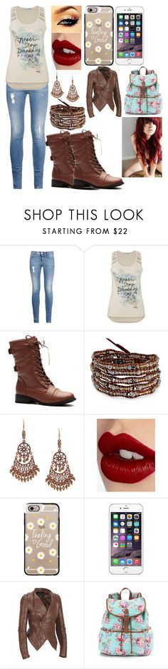 """Brown Boots"" by kiara-fleming ❤ liked on Polyvore featuring STELLA McCARTNEY, maurices, Chan Luu, 1928, Charlotte Tilbury, Casetify and Candie's"