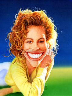 Julia Roberts by donjapy2011.deviantart.com  ...FOLLOW THIS BOARD FOR GREAT CARICATURES OF PEOPLE WE KNOW..I'LL BE ADDING NEW PINS DAILY..