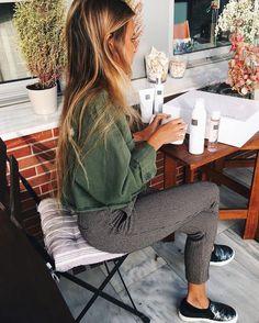 5129444c746 ANDREA BELVER ( andreabelverf ) • Photos et vidéos Instagram Casual Trouser  Outfit