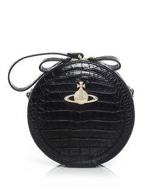 8e4b18303d Vivienne Westwood Accessories Jungle Crocodile Circular Bag Black One Size