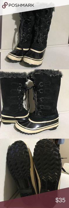 SportO Natasha Boots Black With White  Sz 8 New New without box 📦. New was store model. Please see all pictures as they are part of description Sporto Shoes Winter & Rain Boots