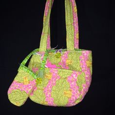 Tulip Purse Pink with Cell Phone Holder Quilted Amy Butler Cotton Fabric    eBay