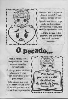 """Minha Herança"": * ""O Plano Perfeito"" Sunday School Kids, Bible For Kids, Jesus Freak, Education, Blog, Malaga, Boards, Wordless Book, 3d Words"