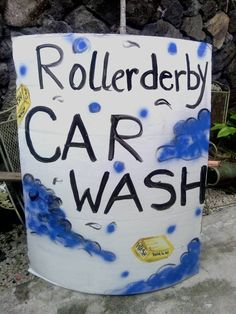 Car wash poster ideas diy pinterest poster ideas car wash roller derby car wash poster solutioingenieria Gallery