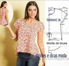 Fashion Sewing, Diy Fashion, Ideias Fashion, Moda Fashion, Diy Clothing, Sewing Clothes, Blouse Patterns, Clothing Patterns, Costura Fashion