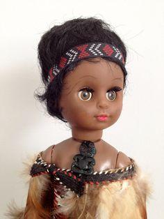Vintage Maori Doll and Kiwi from NZ, New Zealand Souvenir, Kiwi and Wahine…