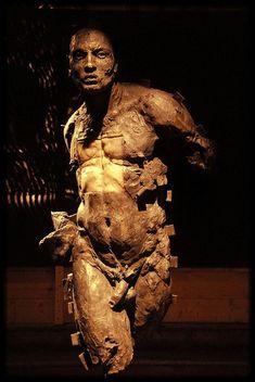 """""""Javier Marin Android"""" sculpture by Aubrey Alexander Hill. Human Sculpture, Art Sculpture, Ceramic Figures, Ceramic Art, Art Steampunk, Javier Marin, Art Du Monde, Tachisme, Contemporary Sculpture"""