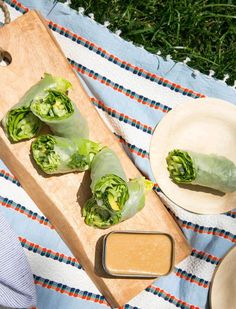 Salad Rolls | Perfect for a picnic. All the nutrition of a green salad with none of the mess.