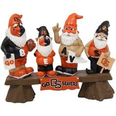 Oregon State Beavers Fan Gnome Bench