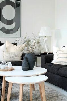 Uma composição sóbria mais não desinteressante. As texturas também são muito importantes para o décor de um ambiente.