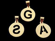 DABCM Dije de letra  en chapa de oro 14k, medida 3 con asa, manejamos todas la letras, precio x pieza $60 pesos, precio medio mayoreo (6 piezas)$55, precio mayoreo (12 piezas)$52 pesos, precio VIP (25 piezas $49