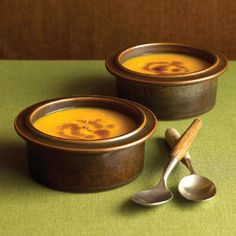 18 fall pumpkin recipes | Spiced Pumpkin Soup with Ginger Browned Butter | Sunset.com #SunsetTurkeyDay