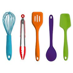 Art and Cook 5Piece Silicone Utensil Set >>> Want to know more, click on the image.