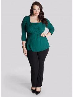 Luella Plus Size Infinity Tunic in Emerald