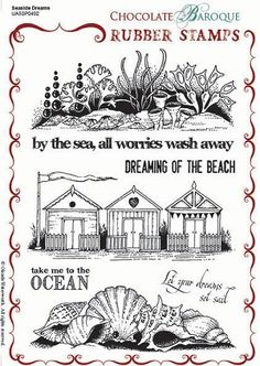 Seaside Dreams Rubber Stamp Sheet