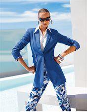 Frock coat. Pure linen, Blouse, Trousers