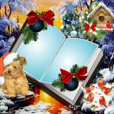 In ♡ Memory 4 Ever Written Pages Within Our Hearts ♡ Christmas Boarders, Christmas Background, Christmas Animals, Christmas Books, Happy Birthday Photos, Borders And Frames, Book Images, Writing Paper, Flower Frame