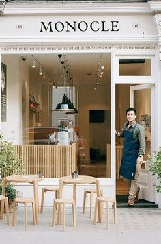 The corrugated stylings of the Monocle Café in London. | 31 Coffeeshops And…