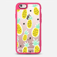 Pineapple Sunrise - New Standard iPhone 6 Case in Pink and Clear by @elloloveyshop | @casetift