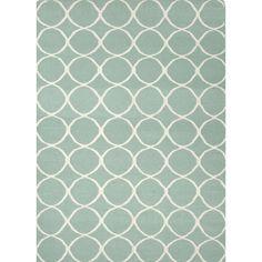 Jaipur Rugs FlatWeave Geometric Pattern Blue/Ivory Wool Area Rug MR01 (Rectangle)