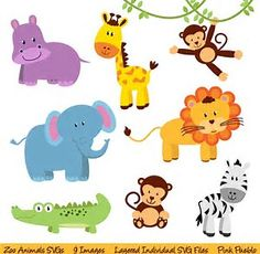 Image result for Free Printable Jungle Animal Templates