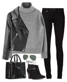 """""""Untitled#3291"""" by fashionnfacts ❤ liked on Polyvore featuring Yves Saint Laurent, Acne Studios, Forever 21, Balenciaga and Free People"""