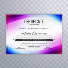 Modern Premium Company Certificate Of Achievement And Appreciation Template With Certificate Of Appreciation, Certificate Of Achievement, Certificate Design, Certificate Templates, Cv Curriculum, Powerpoint Background Design, Award Template, Wave Illustration, School Images