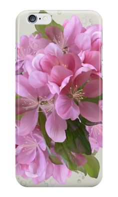 Pink blossoms by IvaW  Hand painted flowers, watercolors. Pink,  green, floral