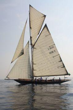 """Pen Duick"", ancient sailing boat of Eric Tabarly, Legend of sailing racing,"