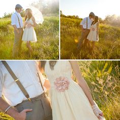 Vintage inspired engagement shoot from Photography by Susie