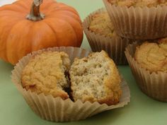 Coconut Flour Pumpkin Muffins  I may tweak the recipe. I don't get why there is eggs, vinegar and baking soda in the recipe when you could use just eggs or soda and vinegar.