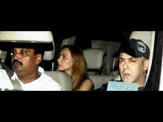 Salman Khan with Girlfriend Lulia Vantur at Arpita Khan's Mother In Law Birthday Party.
