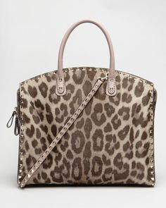 Leopard-Print Calf Hair Tote by Valentino at Neiman Marcus. When I have a larger bank account. :)