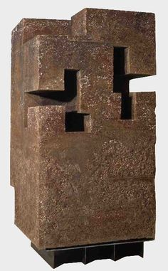 """Unorthodox Architecture I"" by Spannish artist Edouardo Chillida. Contemporary Sculpture, Contemporary Art, Abstract Sculpture, Sculpture Art, Plastic Art, Land Art, Installation Art, Geometric Shapes, Modern Art"