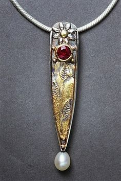 Janet Harriman - jewelry. Cloisonne enamels, freshwater pearl necklaces, earrings, art clay.
