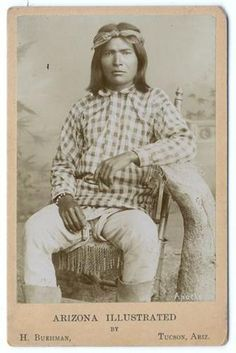 NATIVE AMERICAN YUMA / QUECHAN INDIAN CABINET CARD -Alchesay/Alcise - White Mt. Apache