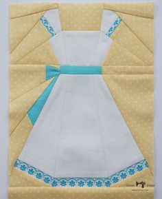 Charise Creates: Girls in White Dresses with Blue Satin Sashes