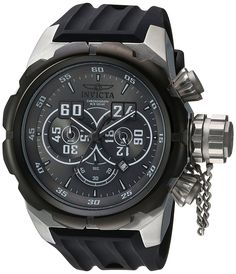Invicta Men's 'Russian Diver' Quartz Stainless Steel and Silicone Casual Watch, Color:Black (Model: 21629) >>> See this great product.